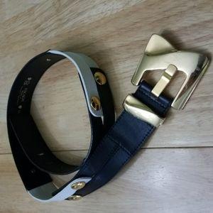 Escada black and white belt